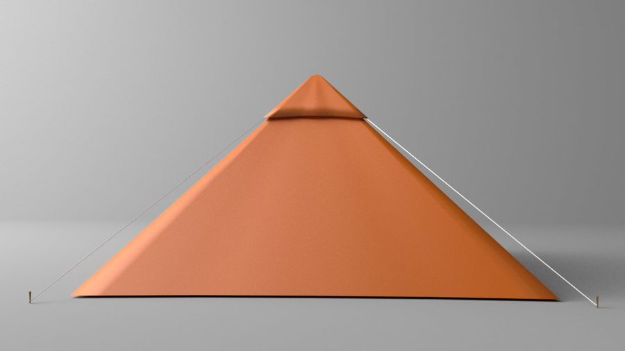 Pyramid Tent royalty-free 3d model - Preview no. 5