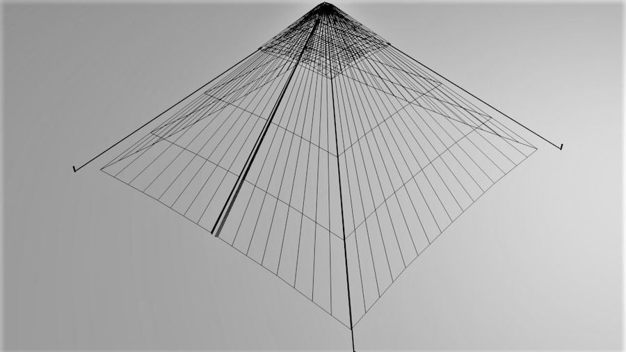 Pyramid Tent royalty-free 3d model - Preview no. 8
