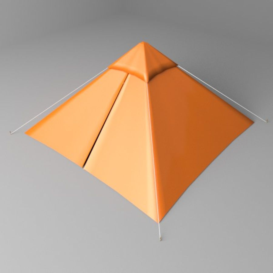 Pyramid Tent royalty-free 3d model - Preview no. 1