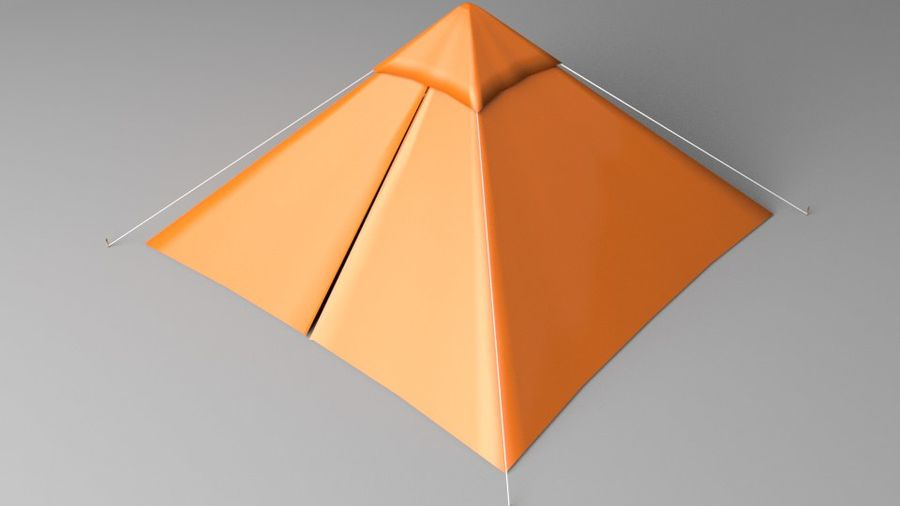 Pyramid Tent royalty-free 3d model - Preview no. 2
