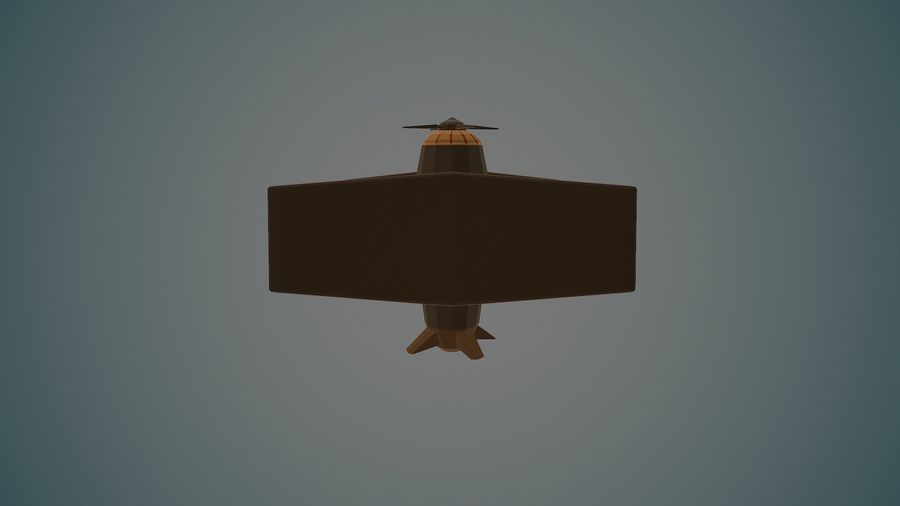 Airplane04 Low-poly royalty-free 3d model - Preview no. 7