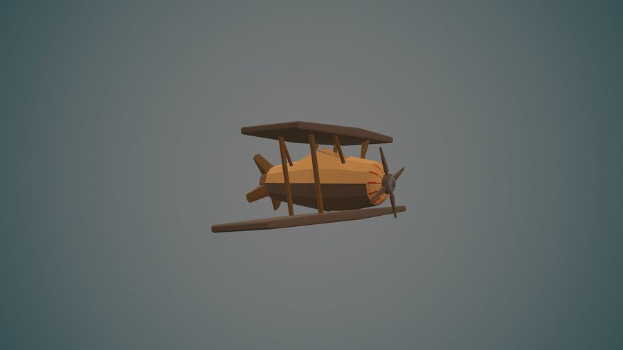 Airplane04 Low-poly royalty-free 3d model - Preview no. 6