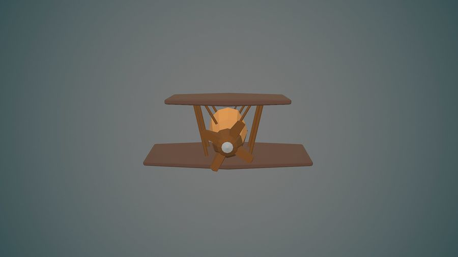 Airplane04 Low-poly royalty-free 3d model - Preview no. 4