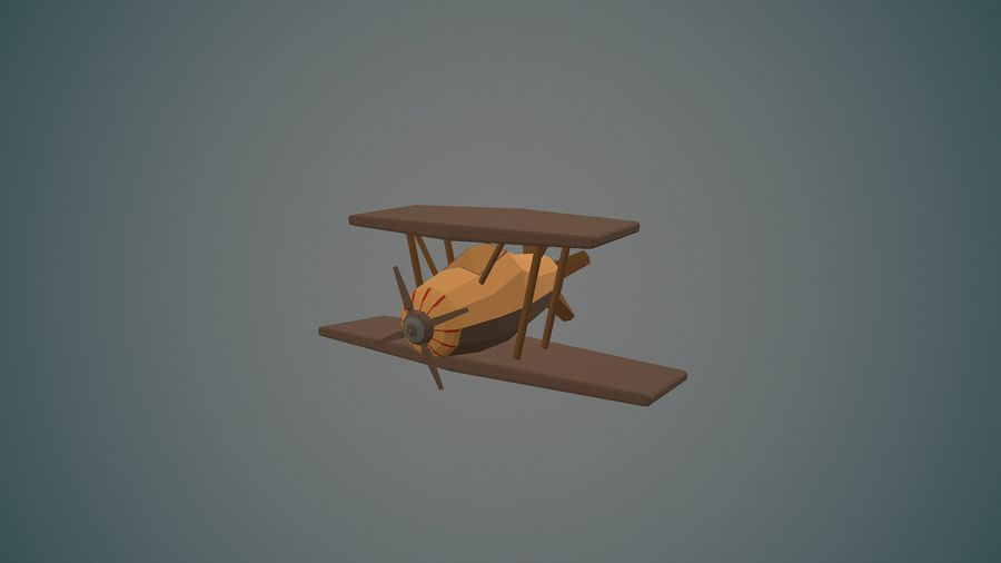 Airplane04 Low-poly royalty-free 3d model - Preview no. 1