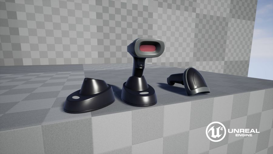 Barcode Scanner royalty-free 3d model - Preview no. 22