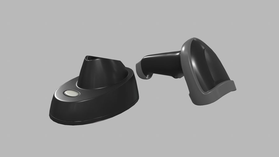 Barcode Scanner royalty-free 3d model - Preview no. 11
