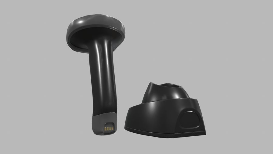 Barcode Scanner royalty-free 3d model - Preview no. 4