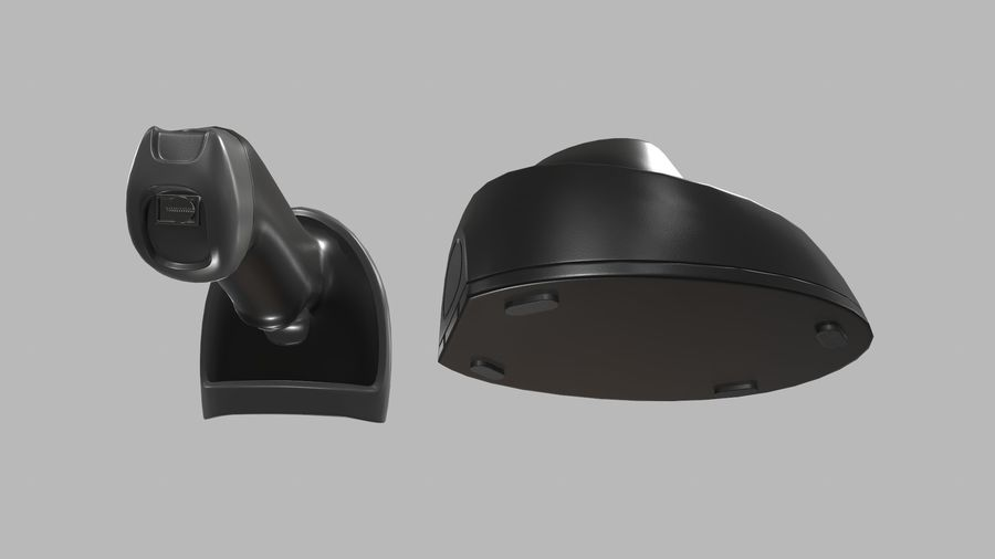 Barcode Scanner royalty-free 3d model - Preview no. 13
