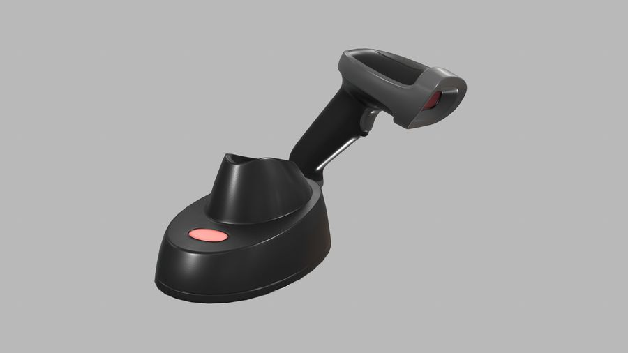Barcode Scanner royalty-free 3d model - Preview no. 14