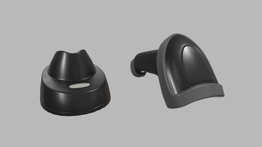 Barcode Scanner royalty-free 3d model - Preview no. 10