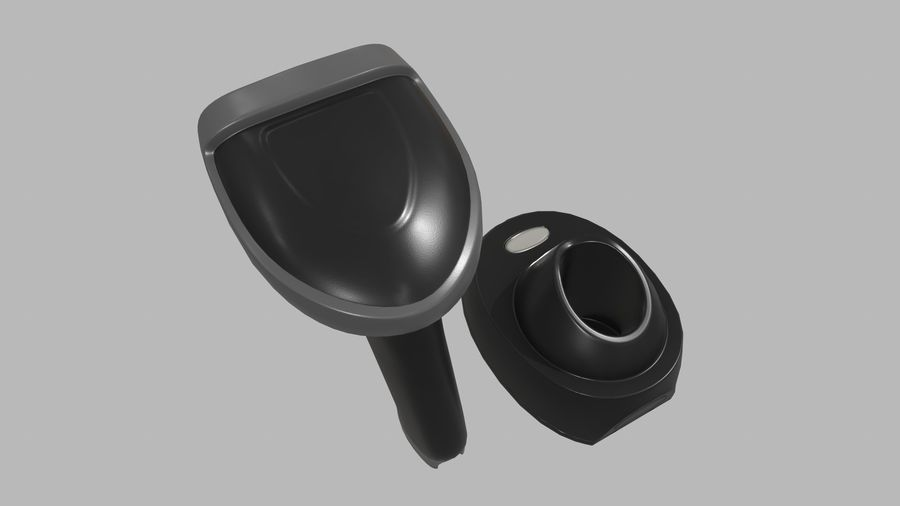 Barcode Scanner royalty-free 3d model - Preview no. 7