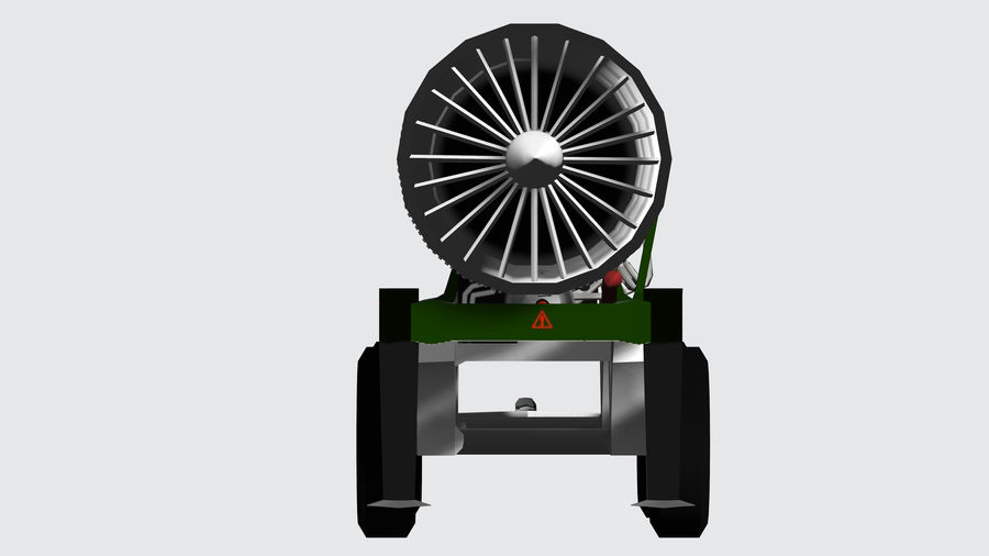 General Electric F414 royalty-free 3d model - Preview no. 4