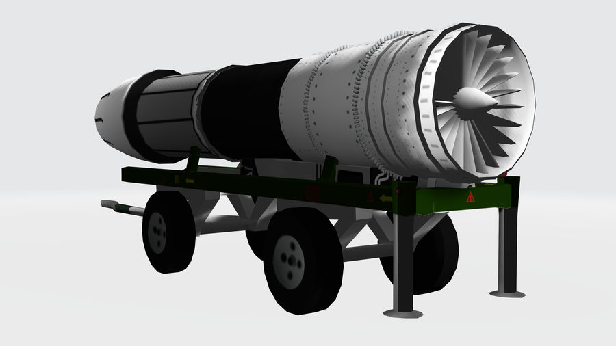 General Electric F414 royalty-free 3d model - Preview no. 2