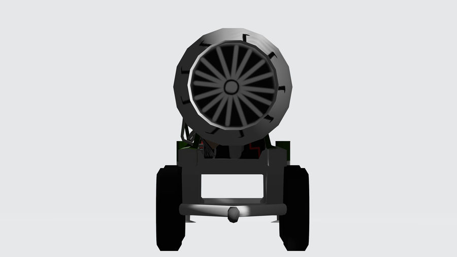 General Electric F414 royalty-free 3d model - Preview no. 3