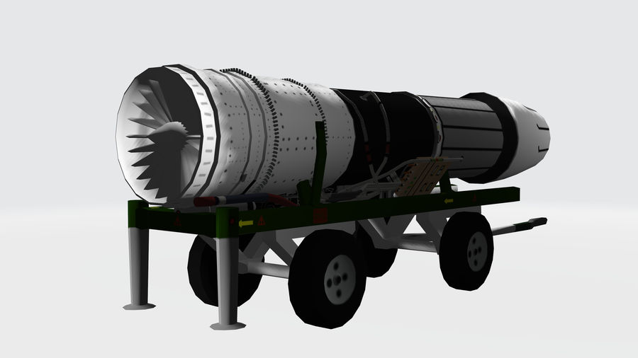 General Electric F414 royalty-free 3d model - Preview no. 1