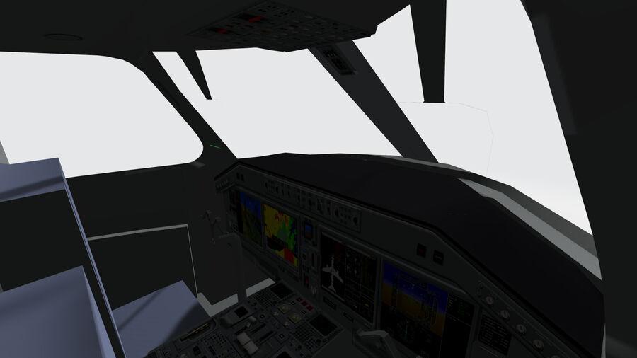 Cockpit Embraer 175 E-2 royalty-free 3d model - Preview no. 3
