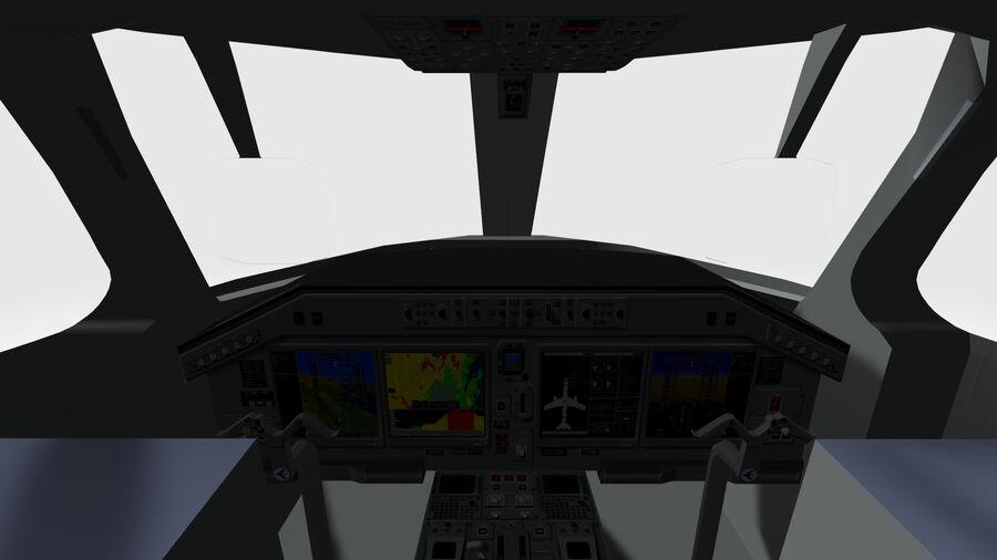 Cockpit Embraer 175 E-2 royalty-free 3d model - Preview no. 1