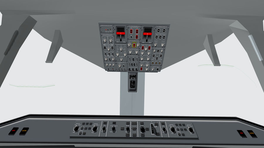 Cockpit Embraer 175 E-2 royalty-free 3d model - Preview no. 5