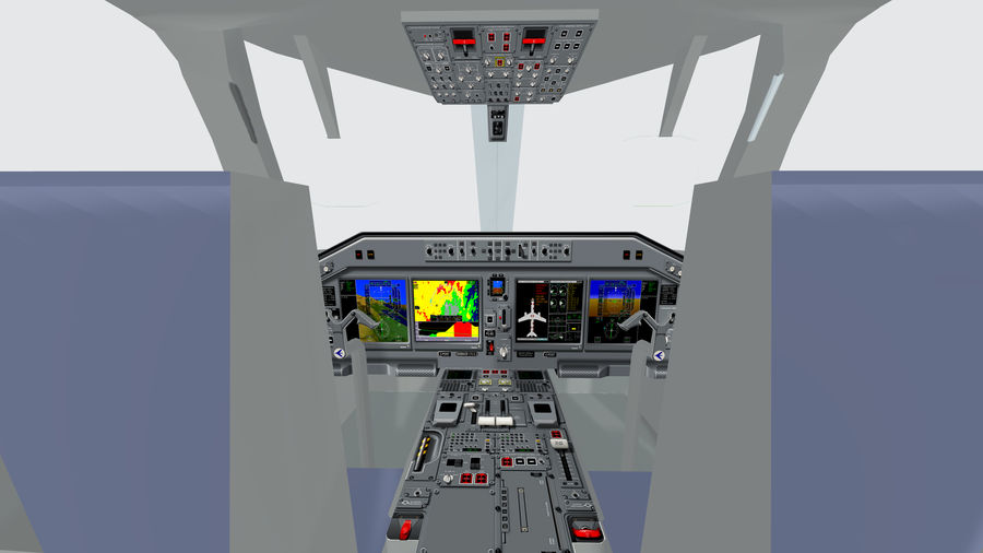 Cockpit Embraer 175 E-2 royalty-free 3d model - Preview no. 1