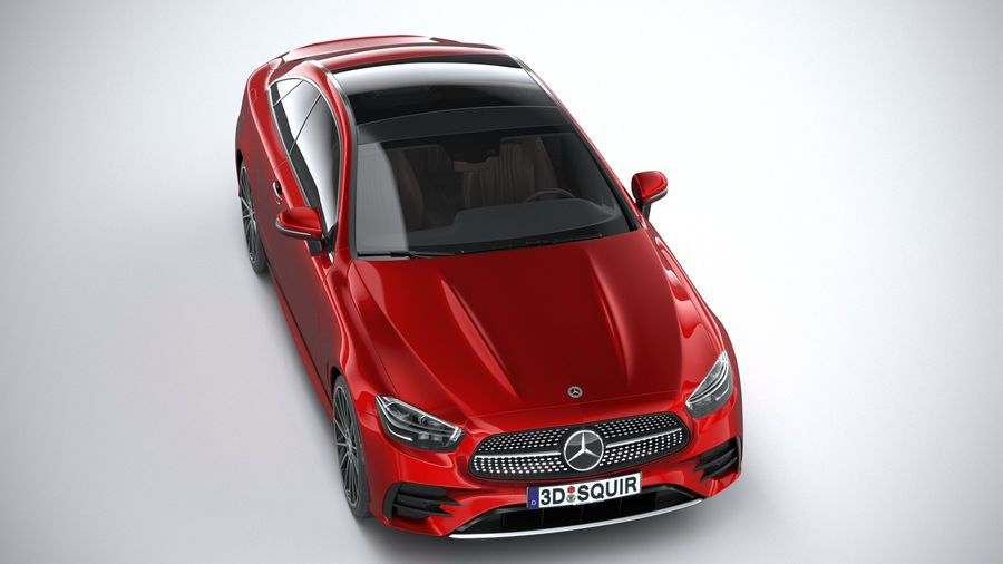 Mercedes E-Class Coupe AMG-Line 2021 royalty-free 3d model - Preview no. 13