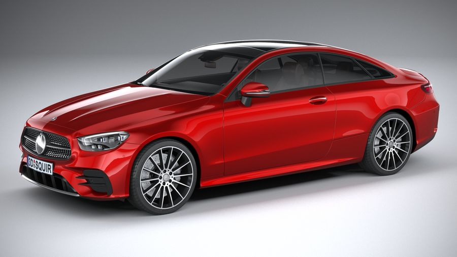 Mercedes E-Class Coupe AMG-Line 2021 royalty-free 3d model - Preview no. 1