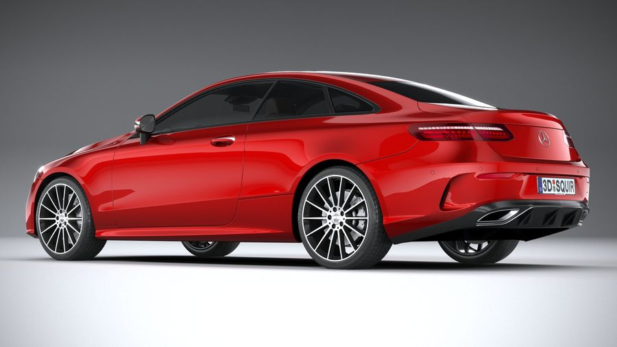 Mercedes E-Class Coupe AMG-Line 2021 royalty-free 3d model - Preview no. 6
