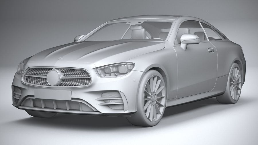 Mercedes E-Class Coupe AMG-Line 2021 royalty-free 3d model - Preview no. 21