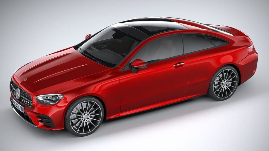 Mercedes E-Class Coupe AMG-Line 2021 royalty-free 3d model - Preview no. 8