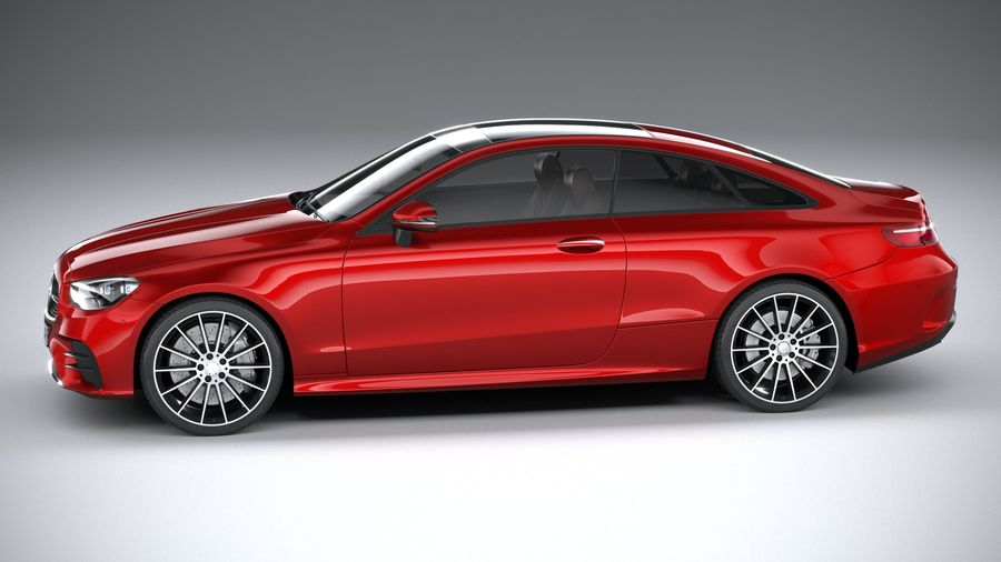Mercedes E-Class Coupe AMG-Line 2021 royalty-free 3d model - Preview no. 9