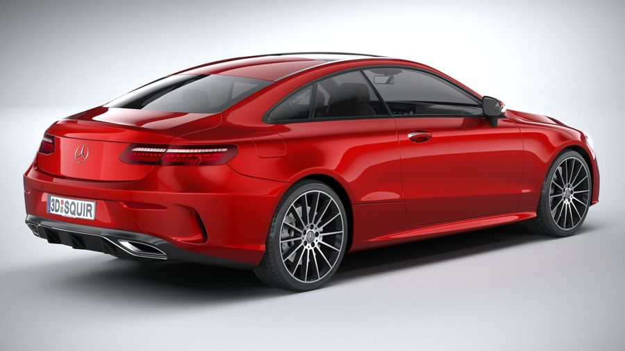Mercedes E-Class Coupe AMG-Line 2021 royalty-free 3d model - Preview no. 18