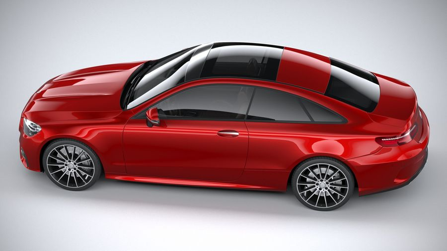 Mercedes E-Class Coupe AMG-Line 2021 royalty-free 3d model - Preview no. 10