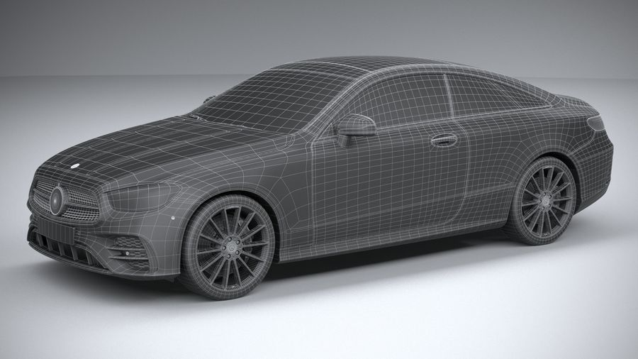 Mercedes E-Class Coupe AMG-Line 2021 royalty-free 3d model - Preview no. 32