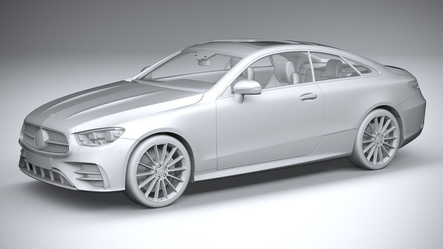 Mercedes E-Class Coupe AMG-Line 2021 royalty-free 3d model - Preview no. 20