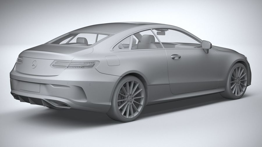 Mercedes E-Class Coupe AMG-Line 2021 royalty-free 3d model - Preview no. 26
