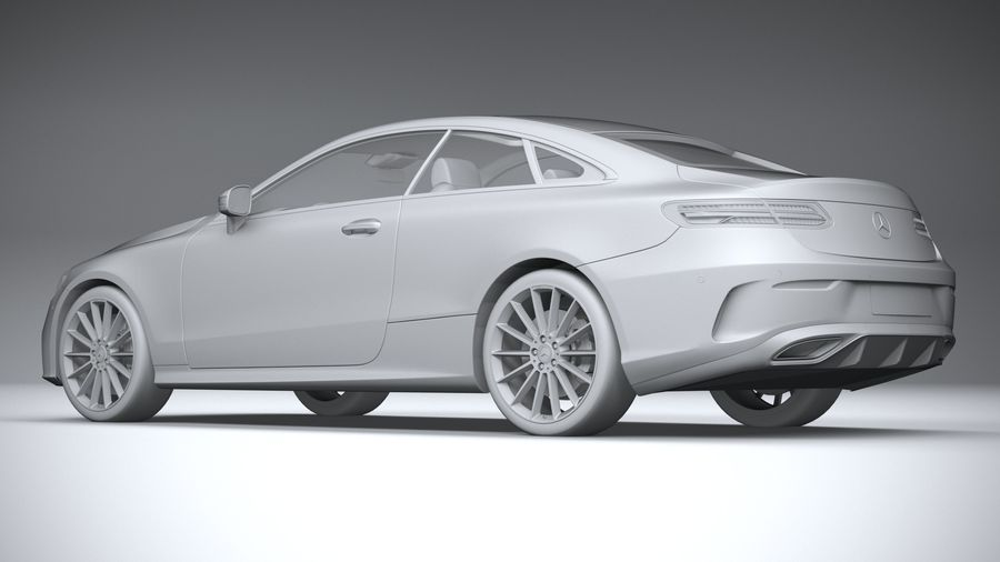 Mercedes E-Class Coupe AMG-Line 2021 royalty-free 3d model - Preview no. 22