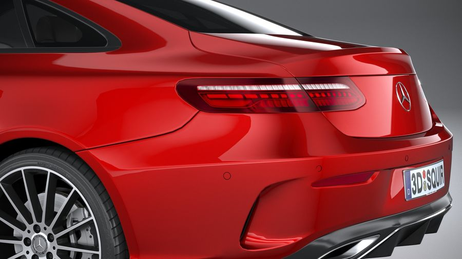 Mercedes E-Class Coupe AMG-Line 2021 royalty-free 3d model - Preview no. 7