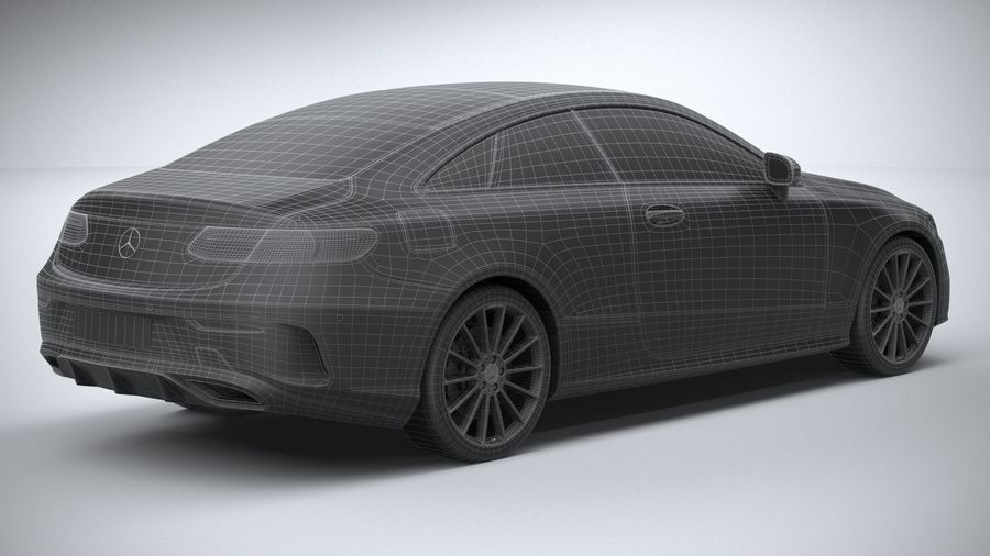 Mercedes E-Class Coupe AMG-Line 2021 royalty-free 3d model - Preview no. 33