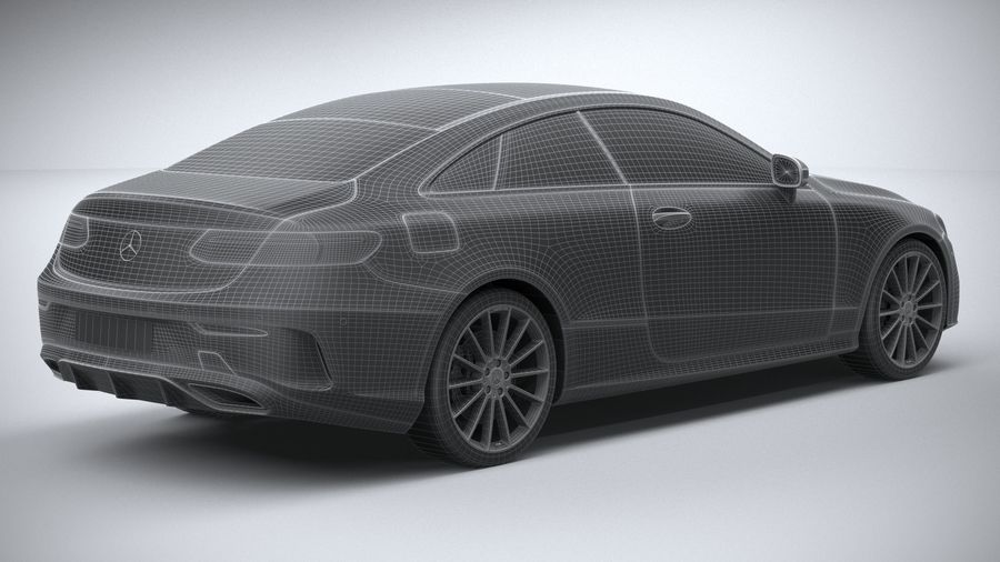 Mercedes E-Class Coupe AMG-Line 2021 royalty-free 3d model - Preview no. 31