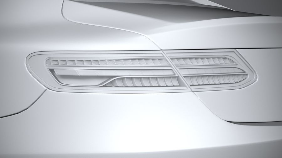 Mercedes E-Class Coupe AMG-Line 2021 royalty-free 3d model - Preview no. 25