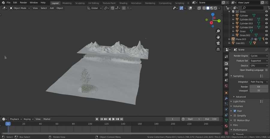 Beautiful Scene Of A Lake & A Snowy Mountain royalty-free 3d model - Preview no. 5