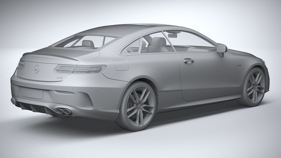 Mercedes E53 Coupe AMG 2021 royalty-free 3d model - Preview no. 26