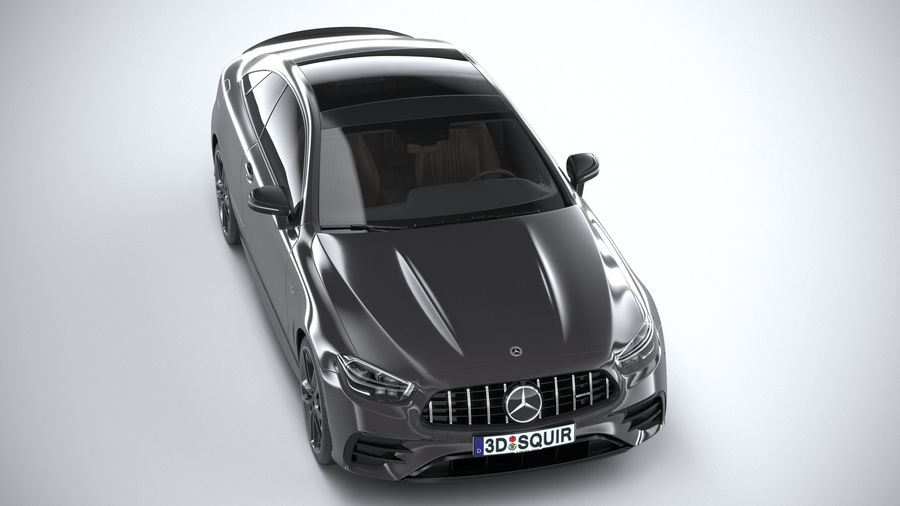Mercedes E53 Coupe AMG 2021 royalty-free 3d model - Preview no. 13