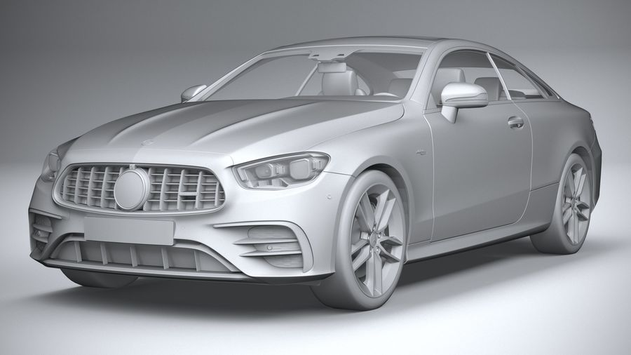 Mercedes E53 Coupe AMG 2021 royalty-free 3d model - Preview no. 21