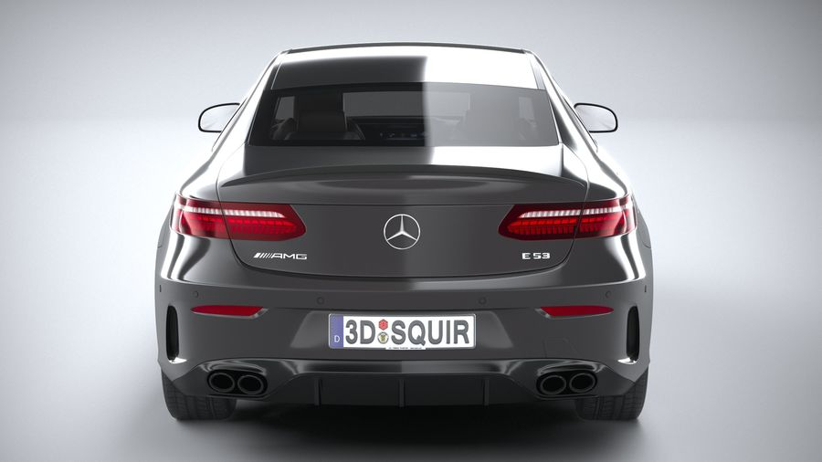 Mercedes E53 Coupe AMG 2021 royalty-free 3d model - Preview no. 5