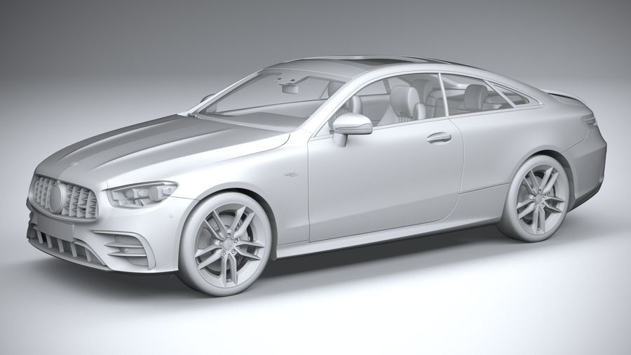 Mercedes E53 Coupe AMG 2021 royalty-free 3d model - Preview no. 20