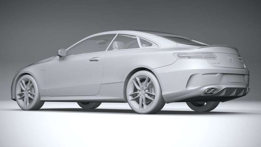 Mercedes E53 Coupe AMG 2021 royalty-free 3d model - Preview no. 22