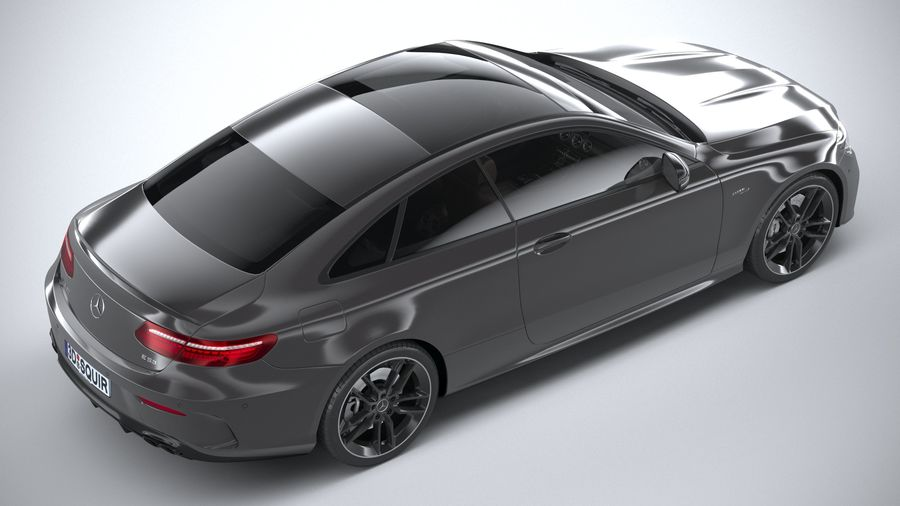 Mercedes E53 Coupe AMG 2021 royalty-free 3d model - Preview no. 11