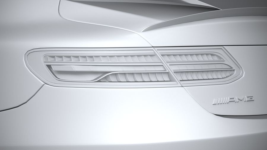 Mercedes E53 Coupe AMG 2021 royalty-free 3d model - Preview no. 25