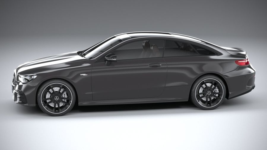 Mercedes E53 Coupe AMG 2021 royalty-free 3d model - Preview no. 9