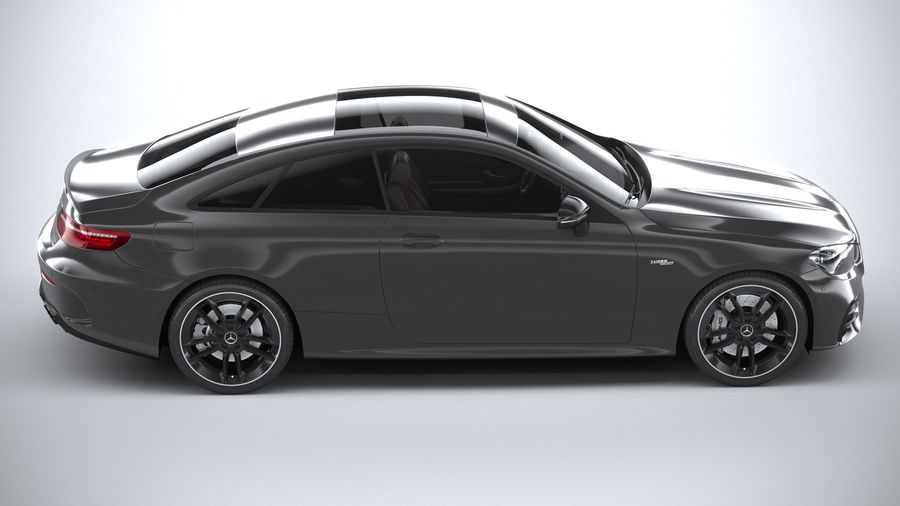 Mercedes E53 Coupe AMG 2021 royalty-free 3d model - Preview no. 12